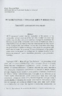 Wykorzystanie typologii MBTI w bibliotece