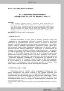 Wykorzystanie techniki SMED w usprawnieniu procesu produkcyjnego